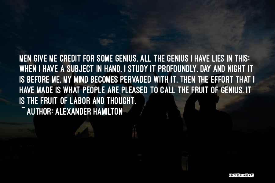 Genius Mind Quotes By Alexander Hamilton