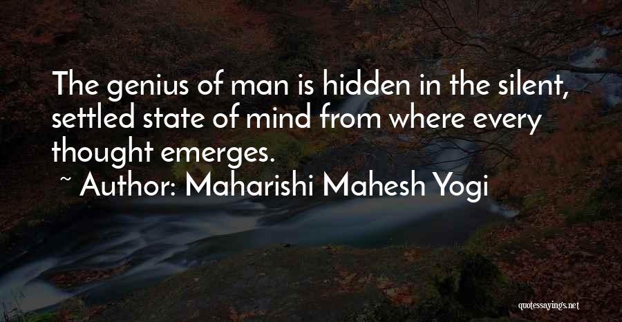 Genius Mind Quotes By Maharishi Mahesh Yogi
