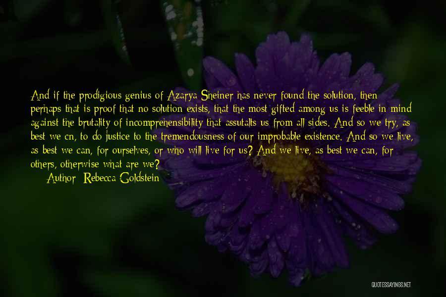 Genius Mind Quotes By Rebecca Goldstein