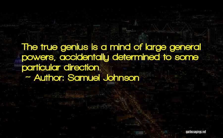 Genius Mind Quotes By Samuel Johnson
