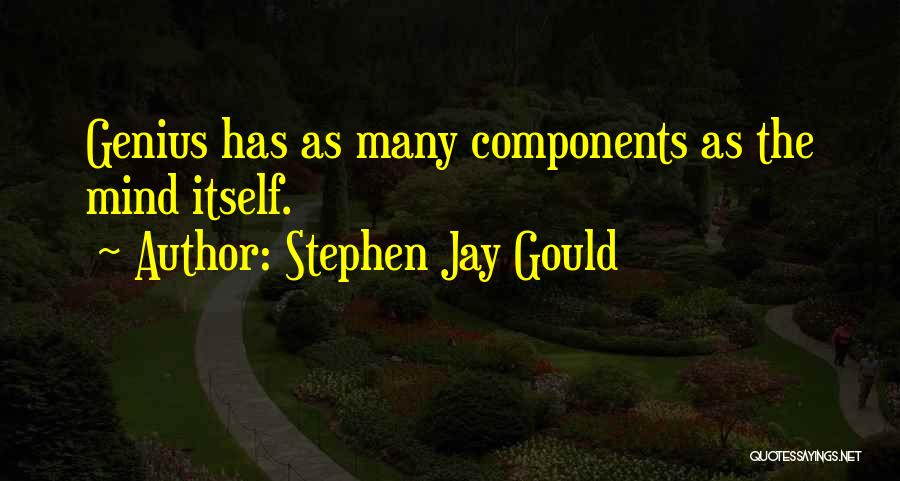 Genius Mind Quotes By Stephen Jay Gould