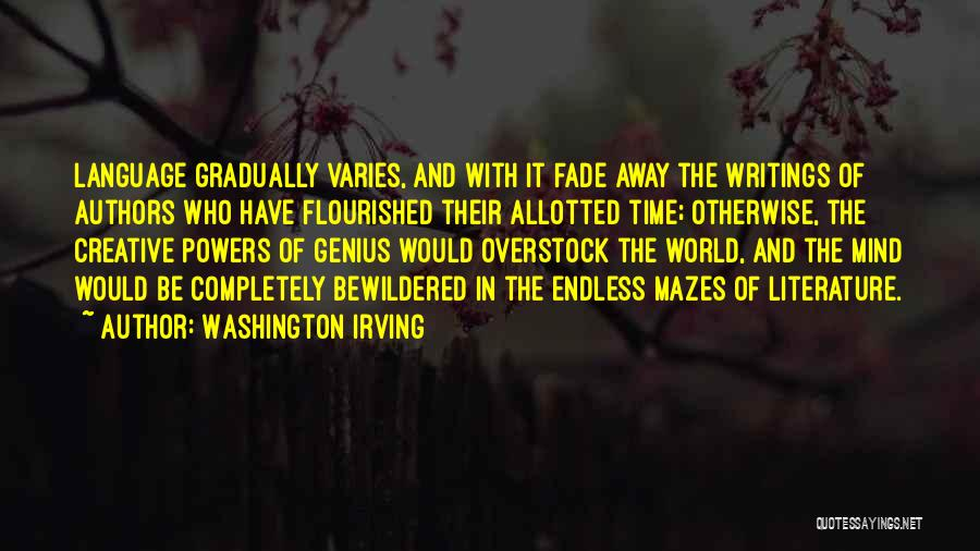 Genius Mind Quotes By Washington Irving