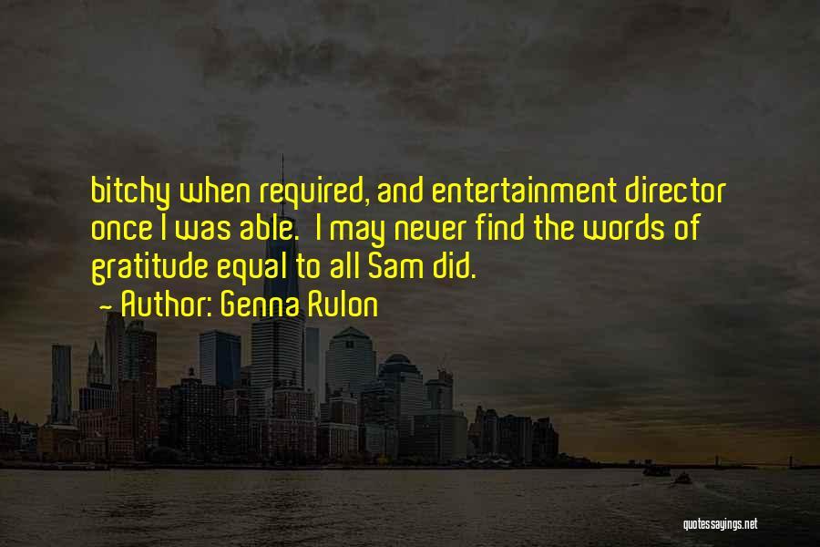 Genna Rulon Quotes 1321872