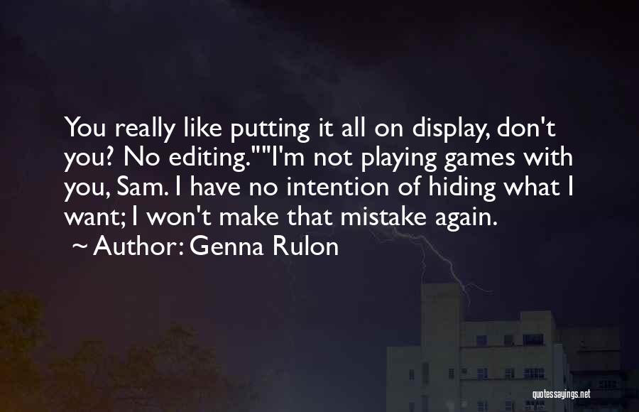 Genna Rulon Quotes 992811