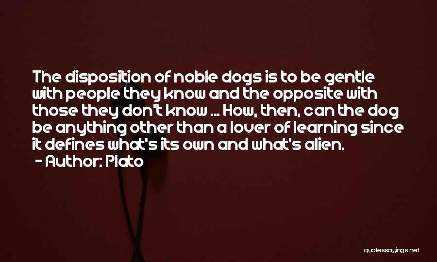 Gentle Lover Quotes By Plato
