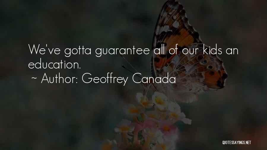 Geoffrey Canada Quotes 143745