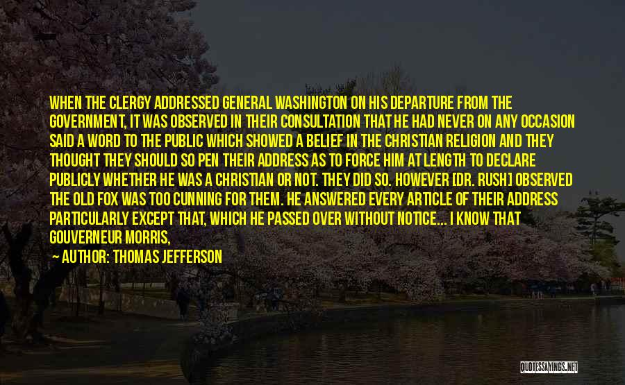 George Morris Quotes By Thomas Jefferson