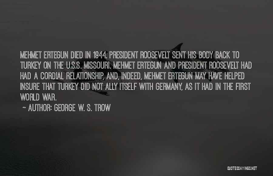 George W. S. Trow Quotes 1264987