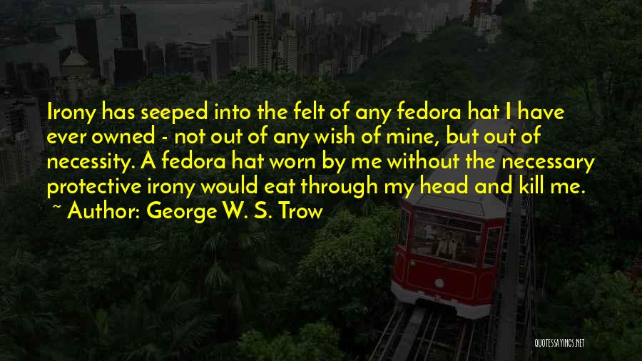 George W. S. Trow Quotes 548668