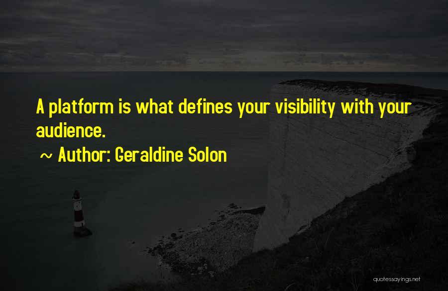 Geraldine Solon Quotes 1060809