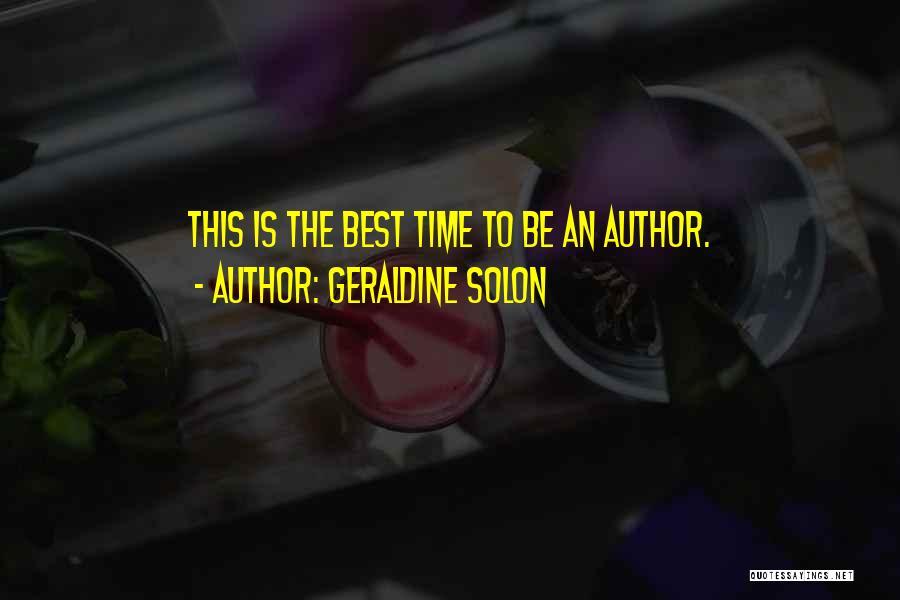 Geraldine Solon Quotes 1806745