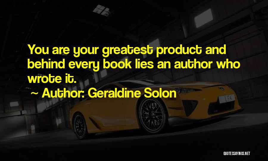 Geraldine Solon Quotes 351161