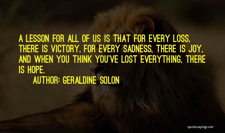Geraldine Solon Quotes 574815