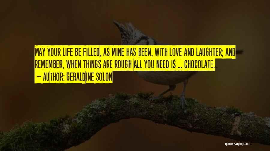 Geraldine Solon Quotes 934147