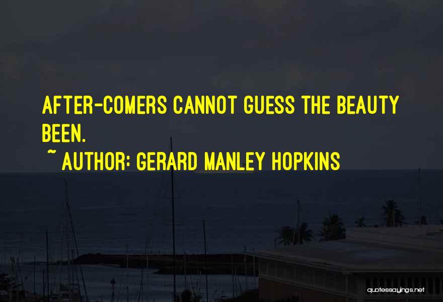 Gerard Manley Hopkins Quotes 1317484