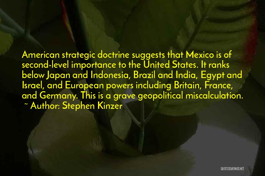 Germany Vs Brazil Quotes By Stephen Kinzer