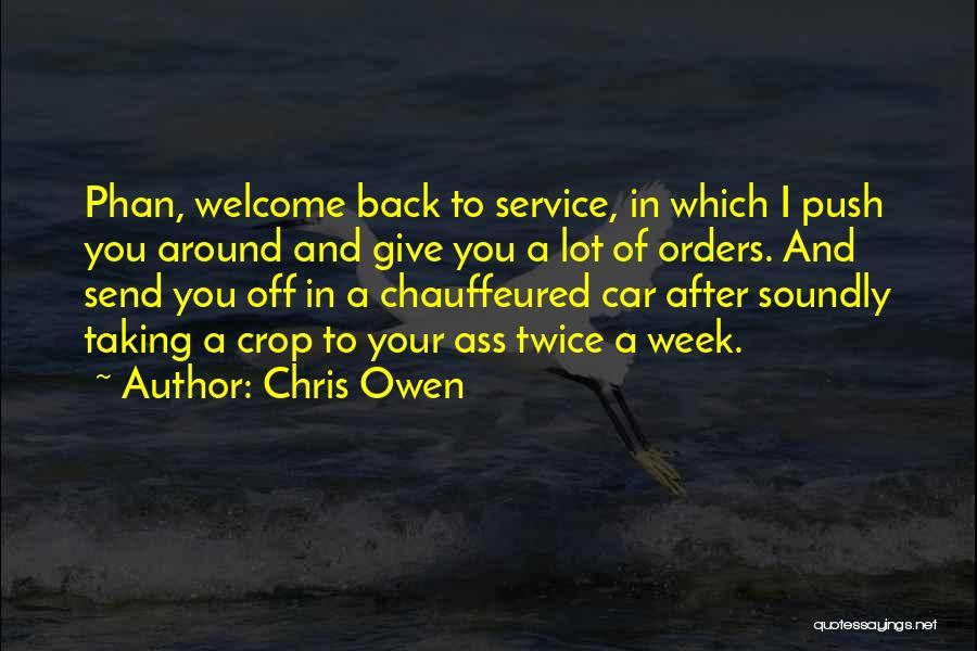 Get Car Service Quotes By Chris Owen