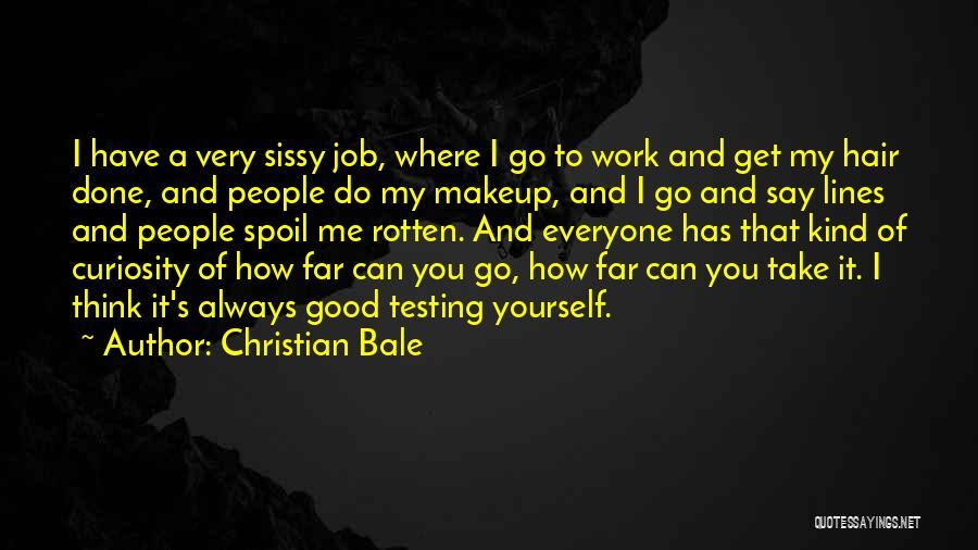 Get Job Done Quotes By Christian Bale