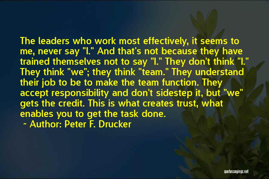 Get Job Done Quotes By Peter F. Drucker