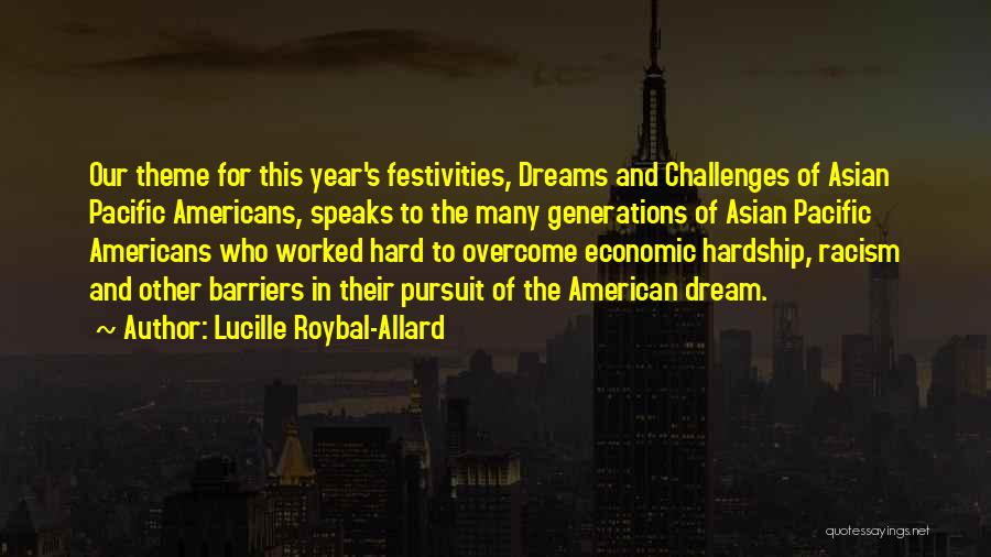 Get Over Racism Quotes By Lucille Roybal-Allard