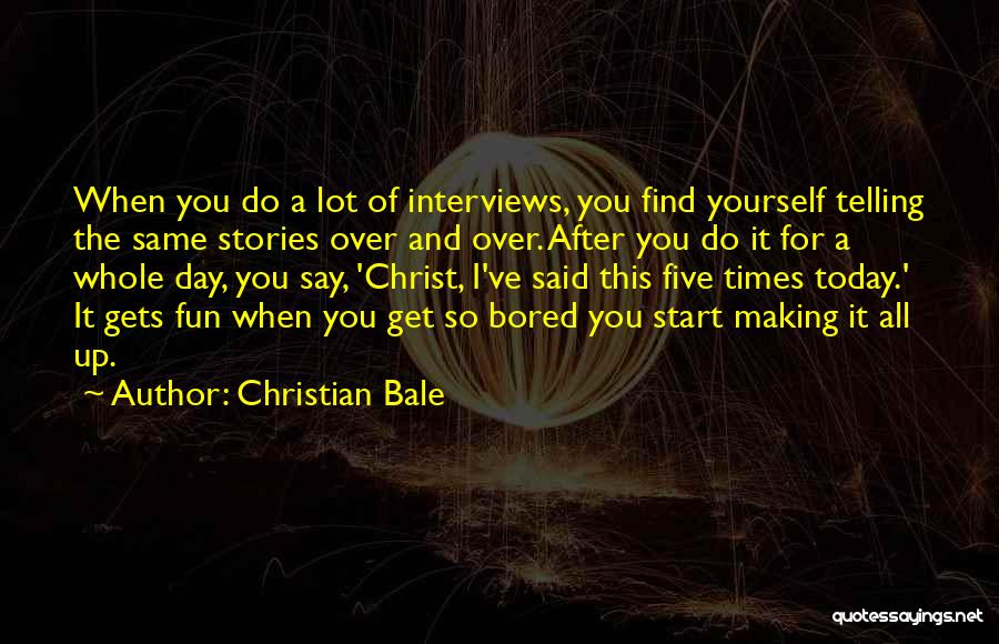 Get Over Yourself Quotes By Christian Bale