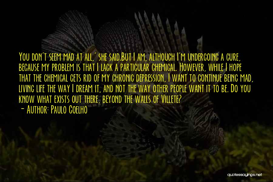 Get Rid Of Depression Quotes By Paulo Coelho