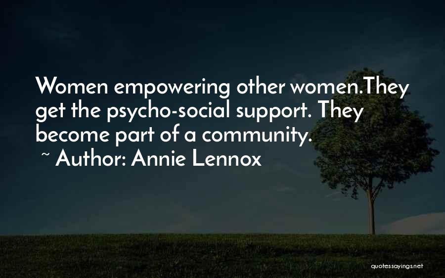 Get Support Quotes By Annie Lennox
