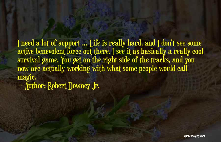 Get Support Quotes By Robert Downey Jr.