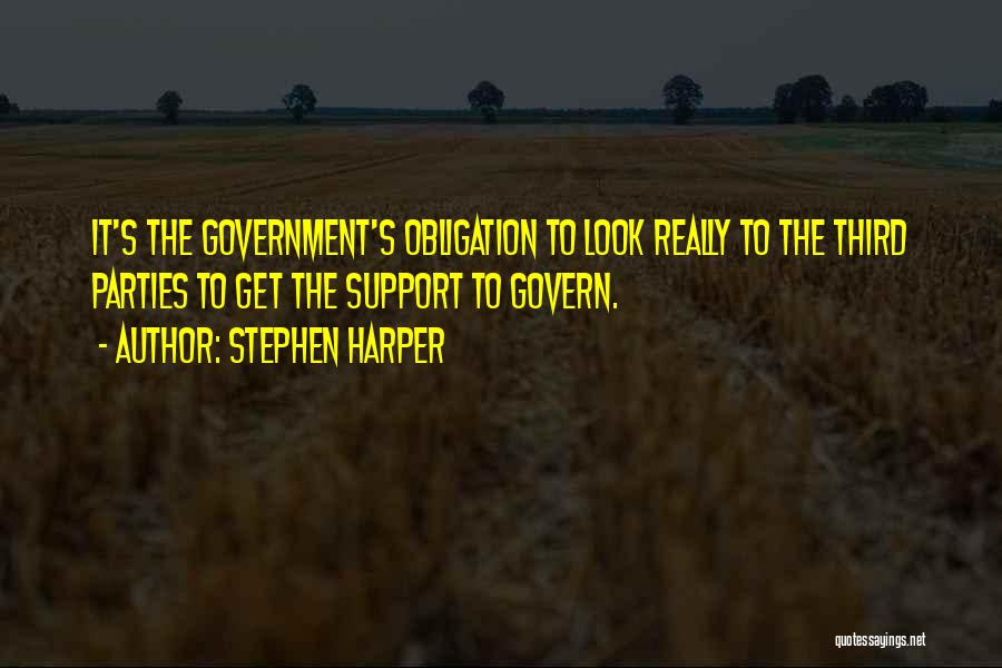 Get Support Quotes By Stephen Harper