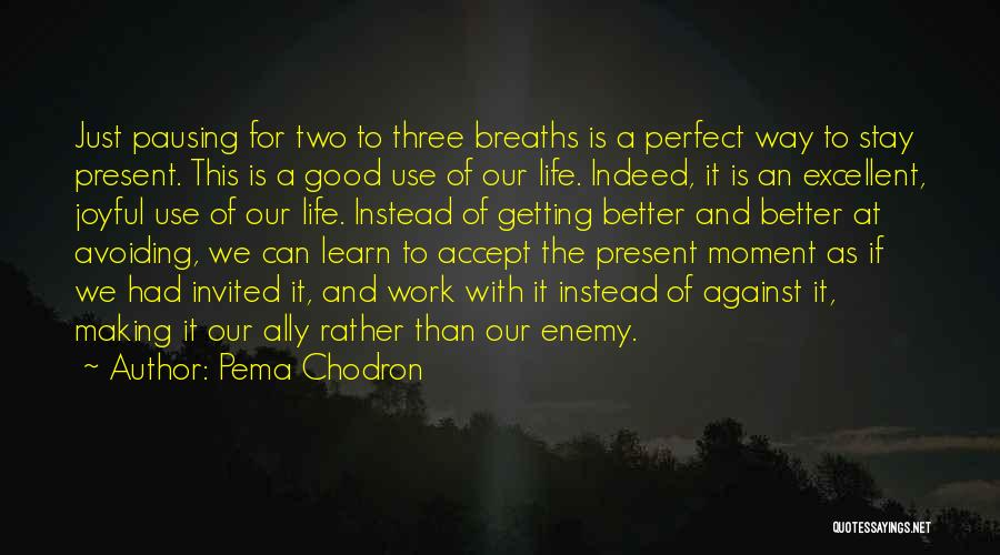 Getting Better At Work Quotes By Pema Chodron