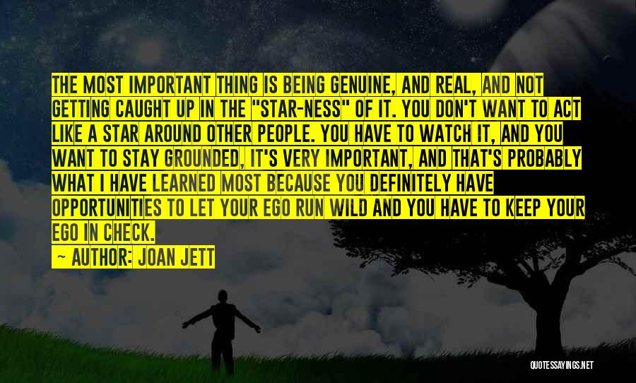 Getting Caught Up Quotes By Joan Jett