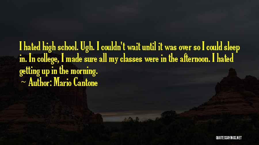 Getting High In The Morning Quotes By Mario Cantone