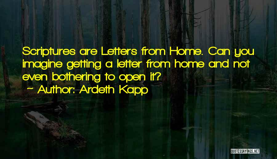 Getting Letters Quotes By Ardeth Kapp