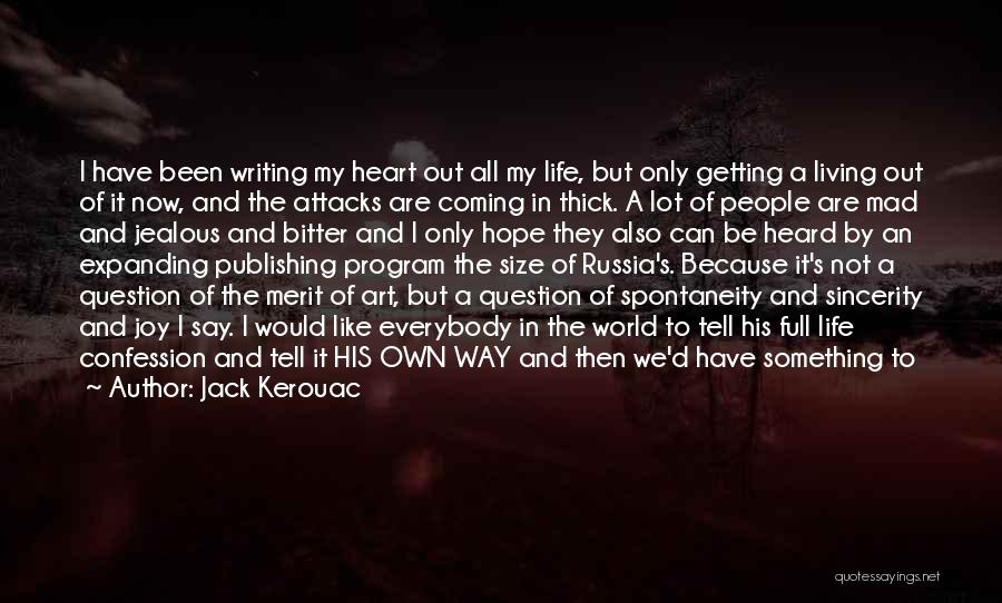 Getting Letters Quotes By Jack Kerouac