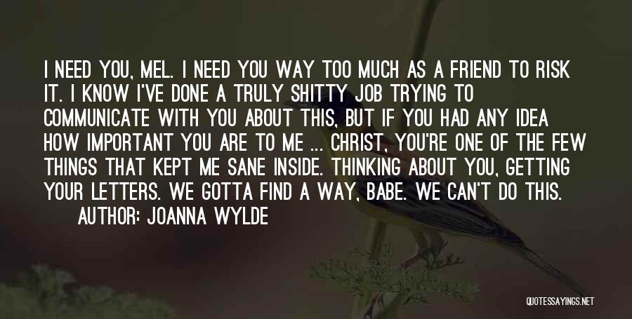 Getting Letters Quotes By Joanna Wylde