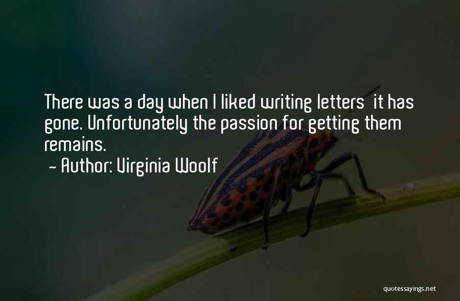 Getting Letters Quotes By Virginia Woolf