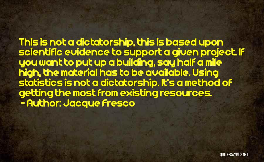 Getting Out What You Put In Quotes By Jacque Fresco