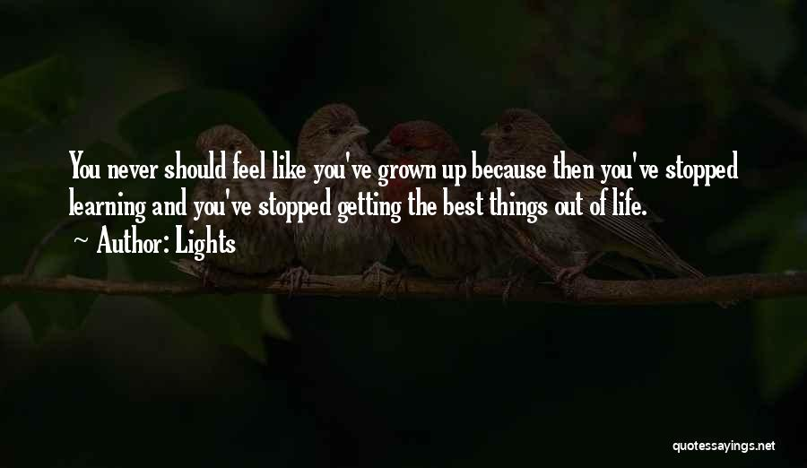 Getting The Best Out Of Life Quotes By Lights