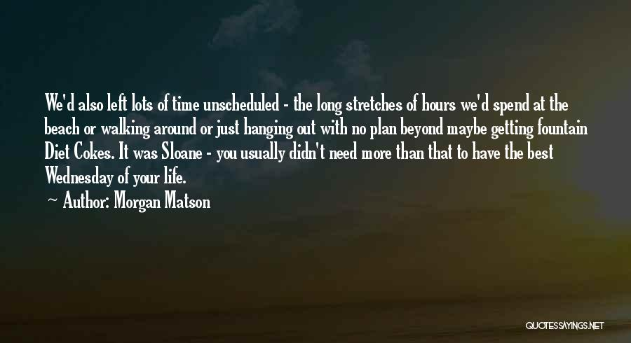 Getting The Best Out Of Life Quotes By Morgan Matson