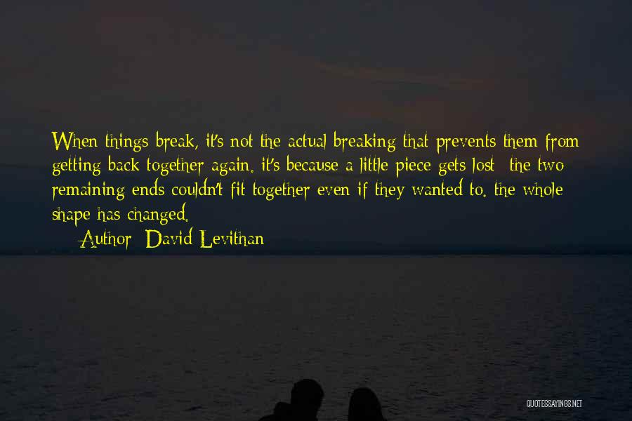 Getting Together Again Quotes By David Levithan