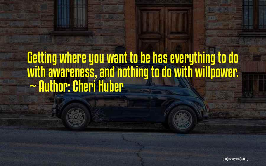 Getting Where You Want To Be Quotes By Cheri Huber