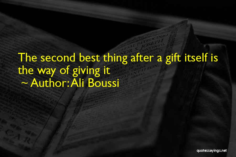 Gift Receive Quotes By Ali Boussi