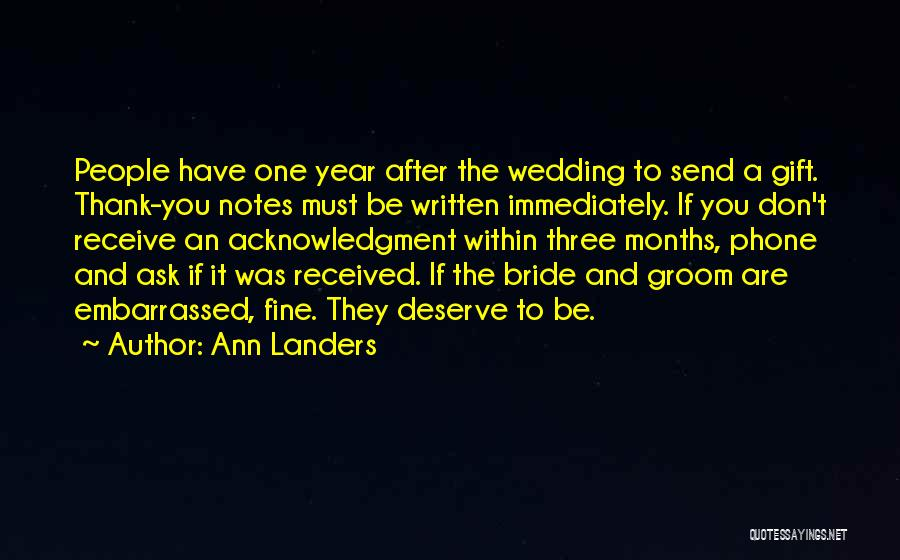Gift Receive Quotes By Ann Landers