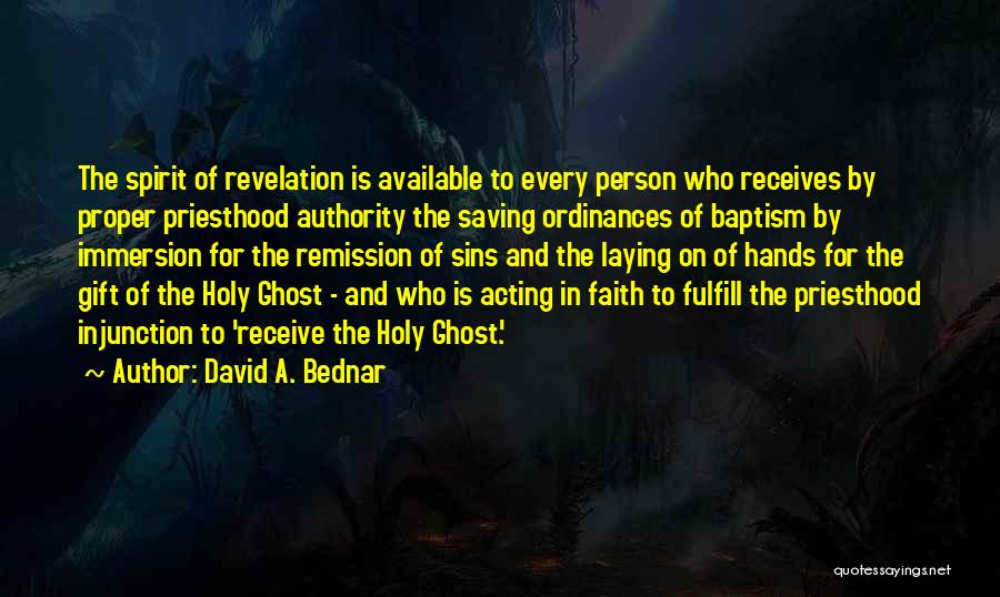 Gift Receive Quotes By David A. Bednar