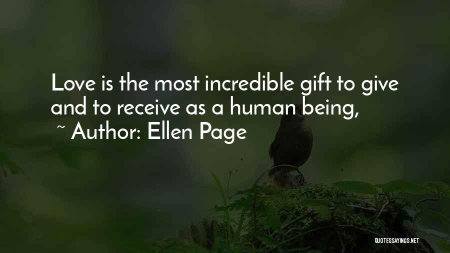 Gift Receive Quotes By Ellen Page