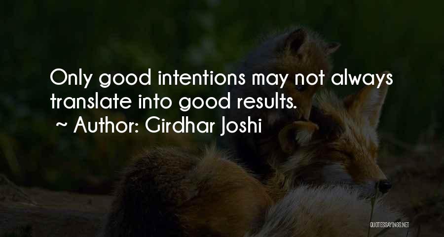 Girdhar Joshi Quotes 1015825