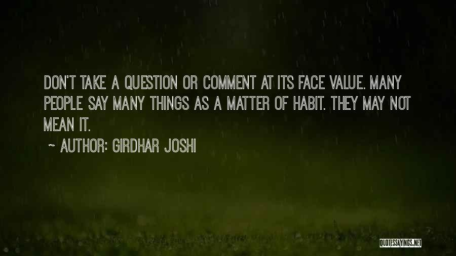 Girdhar Joshi Quotes 1165357