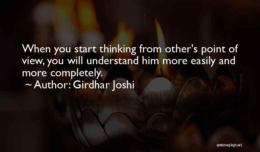 Girdhar Joshi Quotes 1279021
