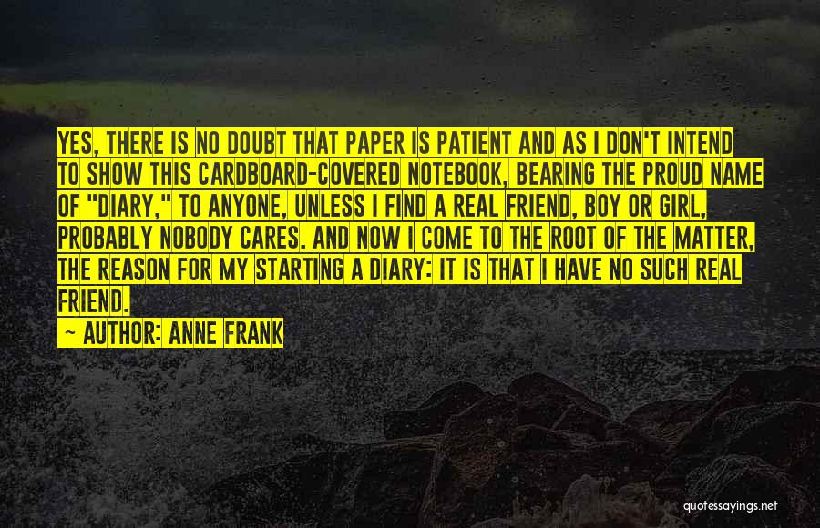 Girl Boy Best Friend Quotes By Anne Frank