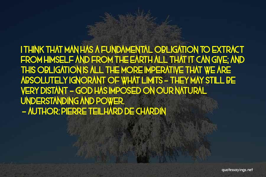 Give A Man Power Quotes By Pierre Teilhard De Chardin